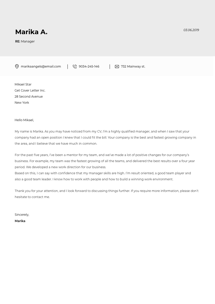 a chemical engineer cover letter sample